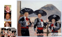 Custom oil portrait-Three Musketeers
