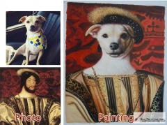 Custom oil portrait-Dog king