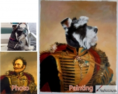 Custom oil portrait-The dog portrait