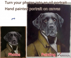 Custom oil portrait-Dog portrait