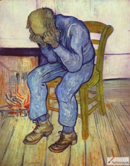 Sorrowing Old Man ('At Eternity's Gate'), 1890, Kröller-Müller Museum, Otterlo
