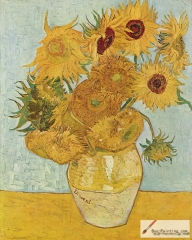 Still Life: Vase with Twelve Sunflowers, August 1888, Neue Pinakothek,