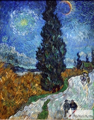Road with Cypress and Star, May 1890, Kröller-Müller Museum