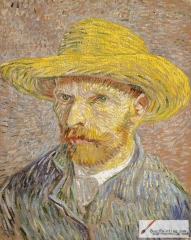 Self-Portrait with Straw Hat, Paris, Winter 1887/88, Metropolitan Museum of Art