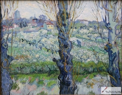 View of Arles, Flowering Orchards, 1889, Neue Pinakothek.