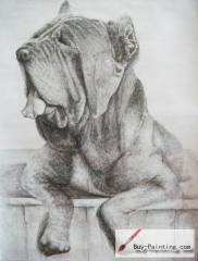 Custom Drawing-Dog in rest