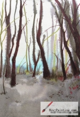 Watercolor painting-Trees