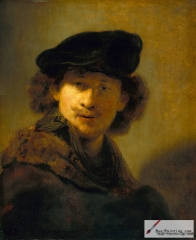 Self-Portrait with Velvet Beret and Furred Mantle 1634