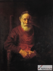 An Old Man in Red, 1652-1654