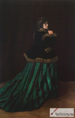 The Woman in the Green Dress, Camille Doncieux, 1866, Kunsthalle Bremen