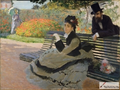 Camille Monet on a Garden Bench, 1873,