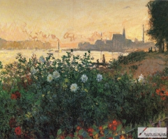 Flowers on the riverbank at Argenteuil, 1877,