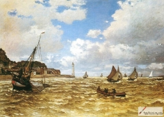 Mouth of the Seine at Honfleur, 1865,