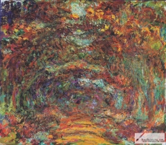 The Rose Walk, Giverny, 1920–22,