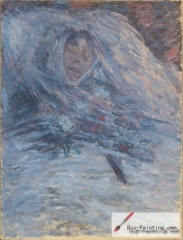 Claude Monet, Camille Monet on her deathbed, 1879,
