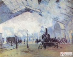 Saint Lazare train station, Paris, 1877,