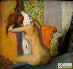 After the Bath, Woman Drying her Nape, pastel on paper, 1898,