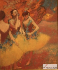 Three Dancers in Yellow Skirts, circa 1891,