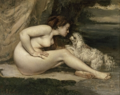 Nude Woman with a Dog (Femme nue au chien), c. 1861–62