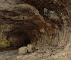 Grotto of Sarrazine near Nans-sous-Sainte-Anne, c. 1875