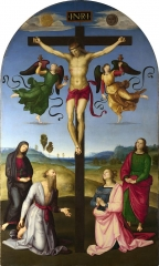 The Mond Crucifixion, 1502–3, very much in the style of Perugino
