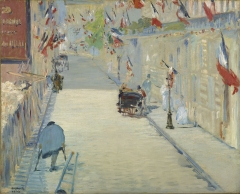 The Rue Mosnier with Flags, 1878