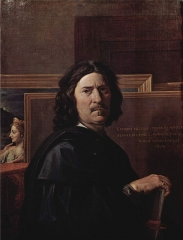 Self portrait by Nicolas Poussin, 1650