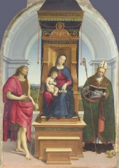 The Ansidei Madonna, c. 1505, beginning to move on from Perugino