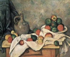 Still Life, Drapery, Pitcher, and Fruit Bowl 1893–1894