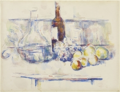 Still Life with Carafe, Bottle, and Fruit, 1906