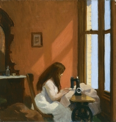 Girl at Sewing Machine (1921)