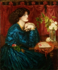 Jane Morris (The Blue Silk Dress) (1868)