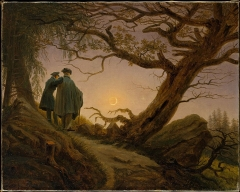 Two Men Contemplating the Moon at the Metropolitan Museum of Art, ca. 1825–30