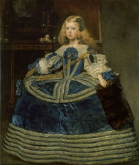 Portrait of the eight-year-old Infanta Margarita Teresa in a Blue Dress (1659)