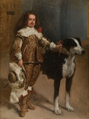 Dwarf with a dog, long attributed to Velázquez