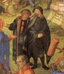 Self-portrait, from an inset of The Martyrdom of the Ten Thousand (1508)