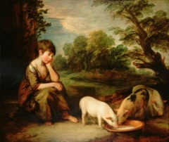 Girl with Pigs, 1781–82