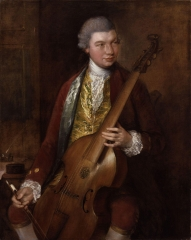 Portrait of the Composer Carl Friedrich Abel with his Viola da Gamba (c. 1765)