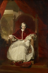 Lawrence painted Pope Pius VII in Rome in 1819