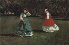 A Game of Croquet, 1866