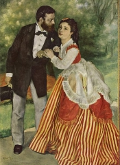 Pierre-Auguste Renoir, Alfred Sisley and his Wife, 1868