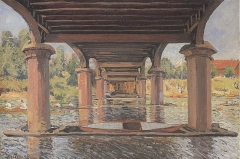 Under the Bridge at Hampton Court, 1874