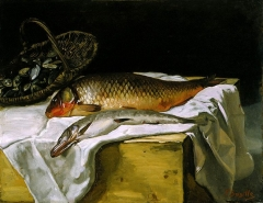 Nature morte avec du poisson, Still life with fish, c. 1866-67