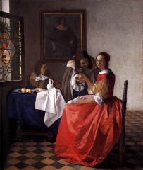 The Girl with the Wine Glass (c. 1659)