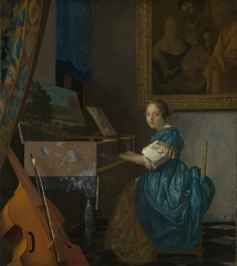 Lady Seated at a Virginal (c. 1672)