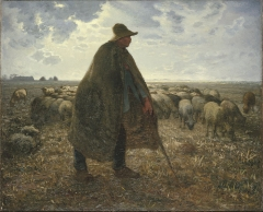 Shepherd Tending His Flock, early 1860s