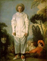 Watteau's commedia dell'arte player of Pierrot, ca 1718–19