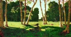The birch grove (1879)