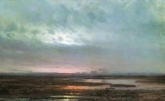 Sundown over a marsh, 1871