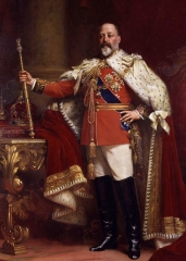 Edward VII in coronation robes (1901)